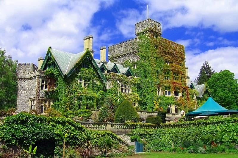 Hatley Castle, Royal Roads University, Victoria, Vancouver Island, British Columbia, Canada stock foto's