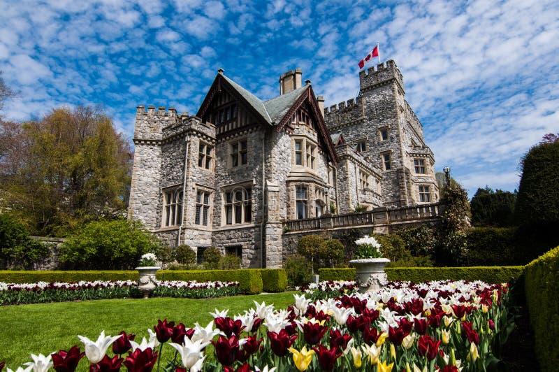 Hatley parka Krajowy Historyczny miejsce, Hatley kasztel, Wiktoria, Kanada obrazy royalty free