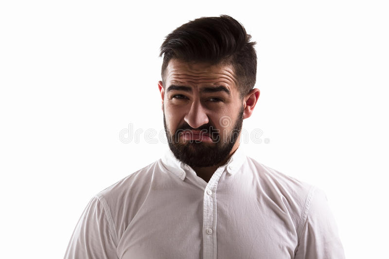 Hatred handsome man royalty free stock photo