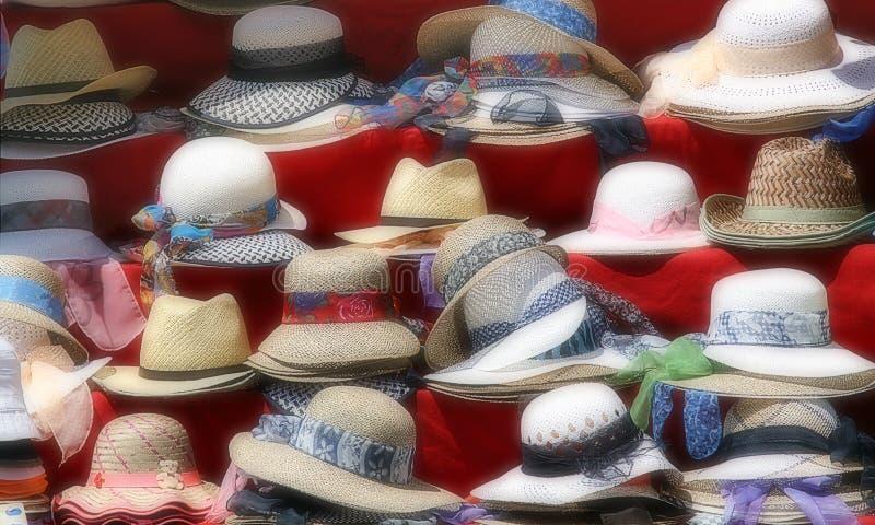 Download Hats stock photo. Image of retail, visor, straw, ribbons - 5878828