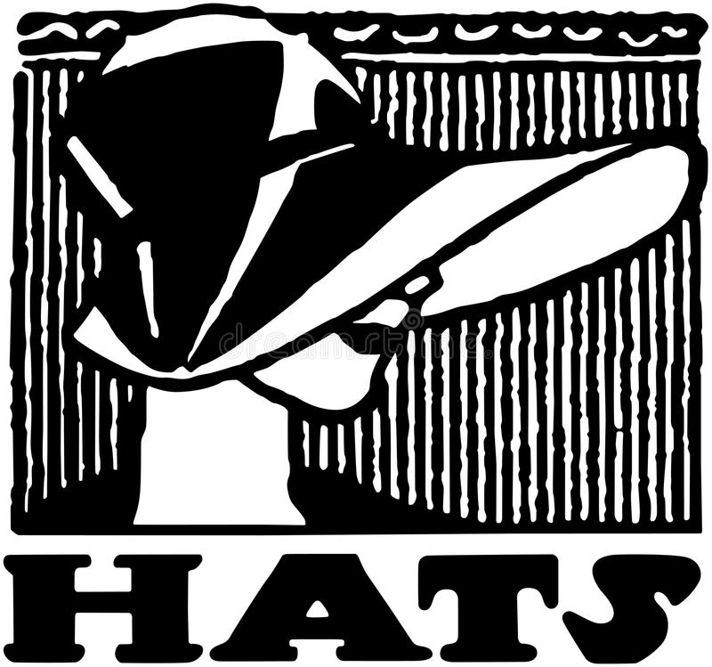 Hats Banner royalty free illustration
