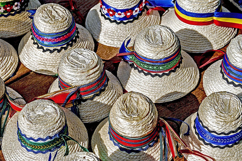 Hats for mens traditional romanian-3 royalty free stock photo