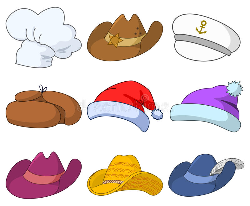 Hats set stock illustration
