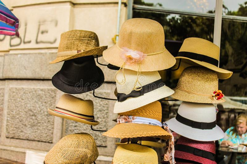 Hats Store Ancient Objects and Dolls Style royalty free stock photo
