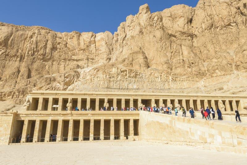 Hatshepsuttempel, Luxor, Egypte stock foto