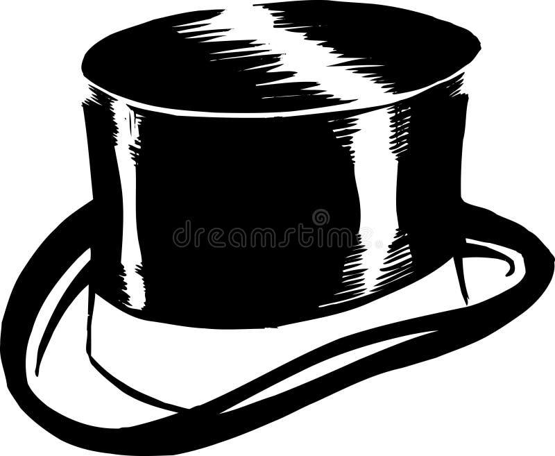 hattöverkant stock illustrationer