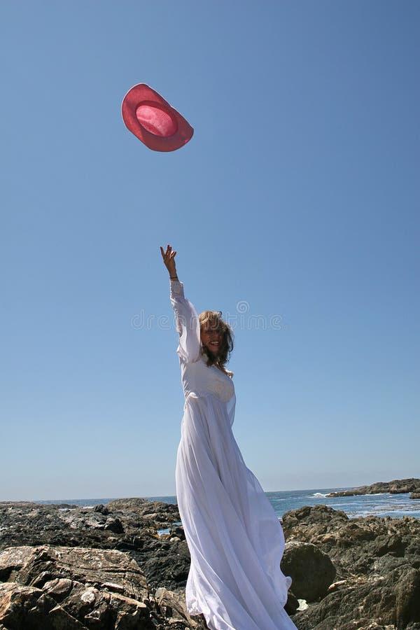 Download Hatt för luftbrudcowgirl fotografering för bildbyråer. Bild av kappa - 985713