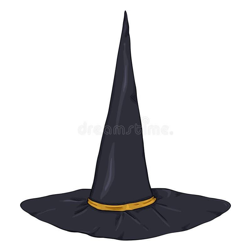 Hatt för trollkarlar för svart för vektortecknad filmsingel vektor illustrationer
