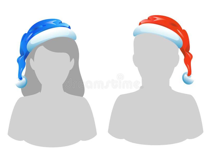 hatt s santa royaltyfri illustrationer