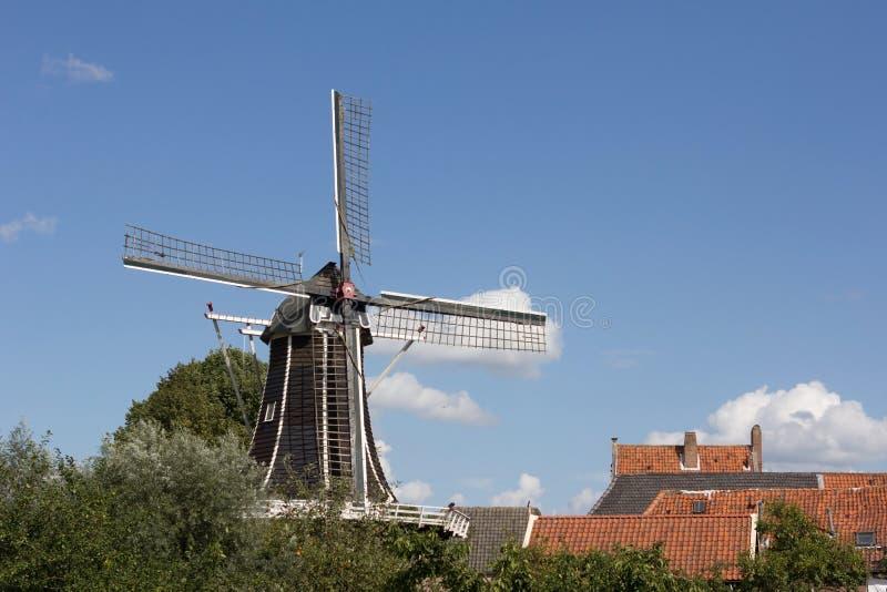 Hattem Nederländerna: Augusti 30, 2012 - gammalt mjöl maler arkivfoto