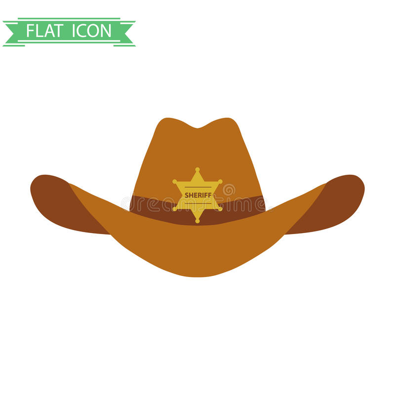 Hatten för sheriff` s royaltyfri illustrationer