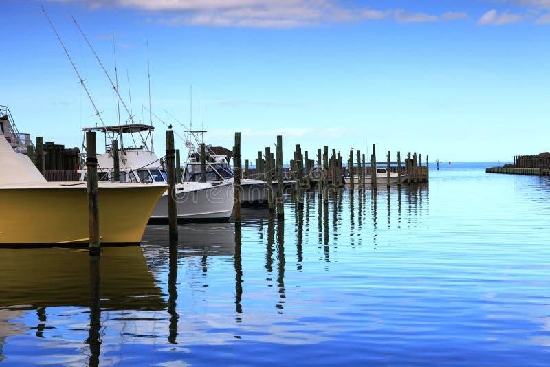 Hatteras Harbor Marina North Carolina stock photos