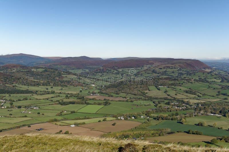 Hatterrall kulle & dal av Ewyas royaltyfria foton