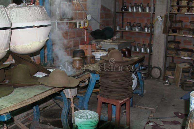 Hattfabrik, Sucre Bolivia fotografering för bildbyråer