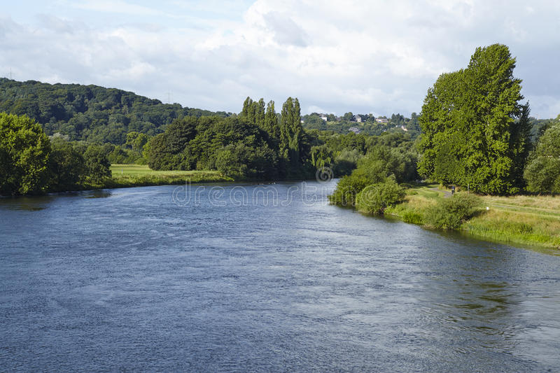 Hattingen (Γερμανία) - ποταμός Ρουρ στοκ εικόνες με δικαίωμα ελεύθερης χρήσης