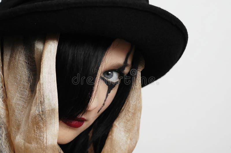 hattkvinna arkivfoton