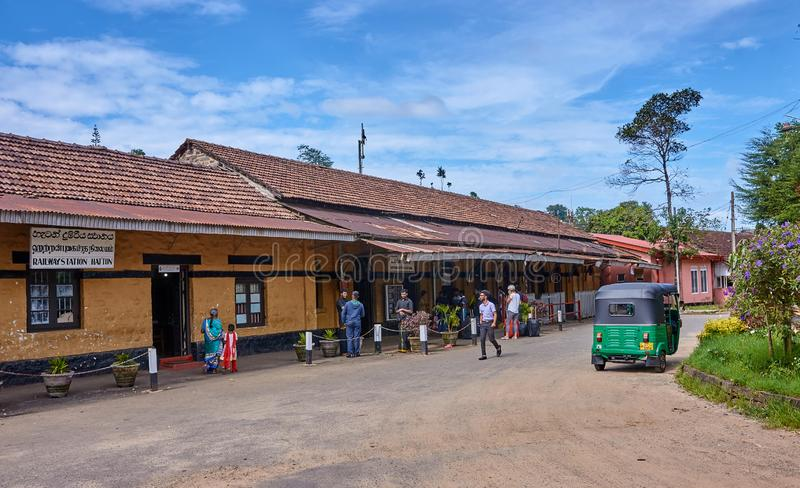 HATTON, SRI LANKA - DECEMBER 10, 2018: Railways Station on 10 De stock photos
