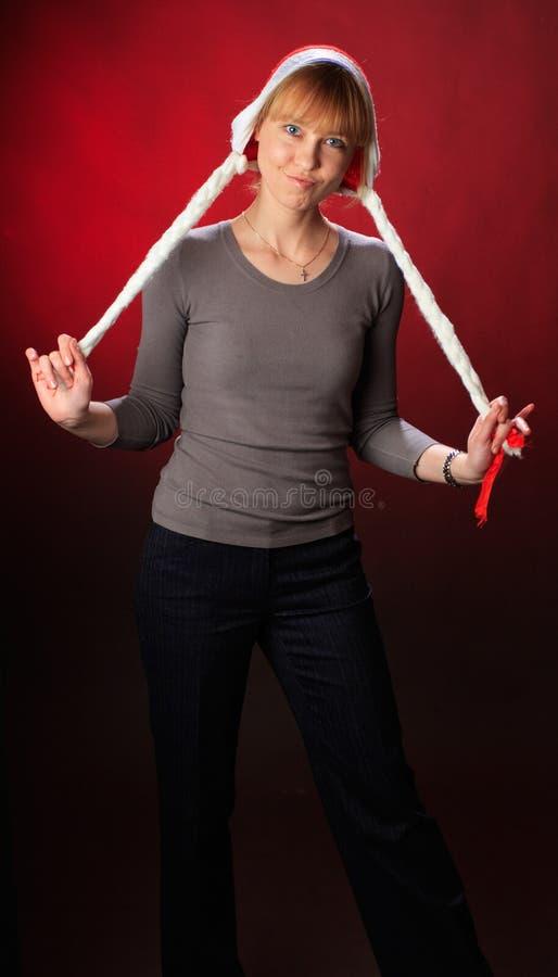 Hattsanta slitage kvinna
