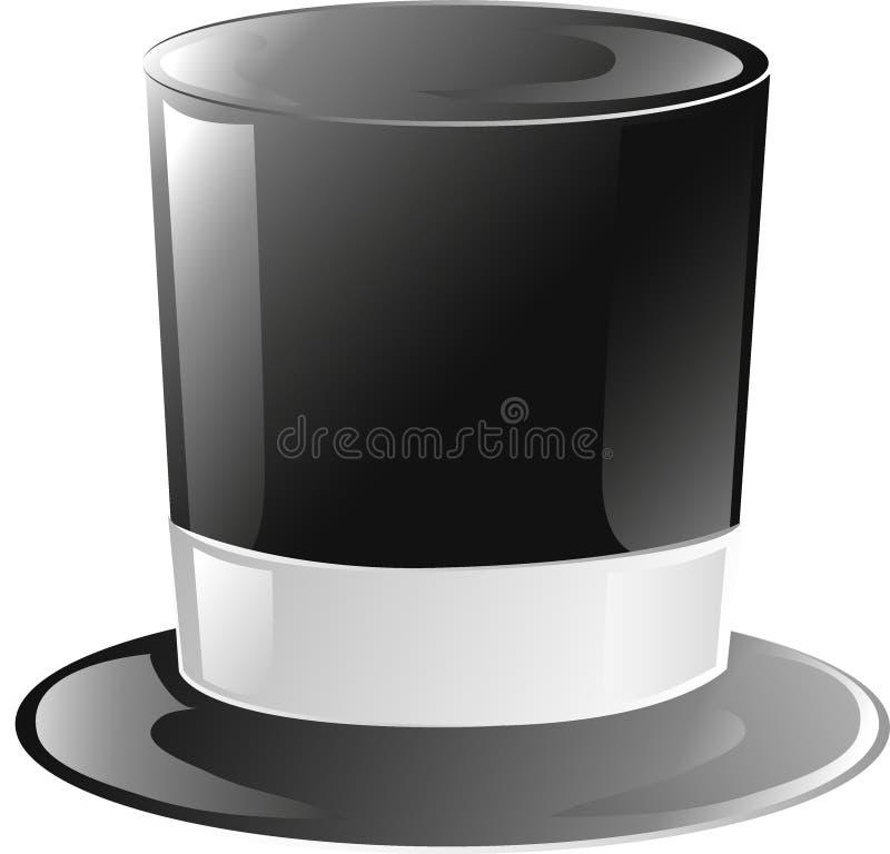 hattsymbolsöverkant vektor illustrationer