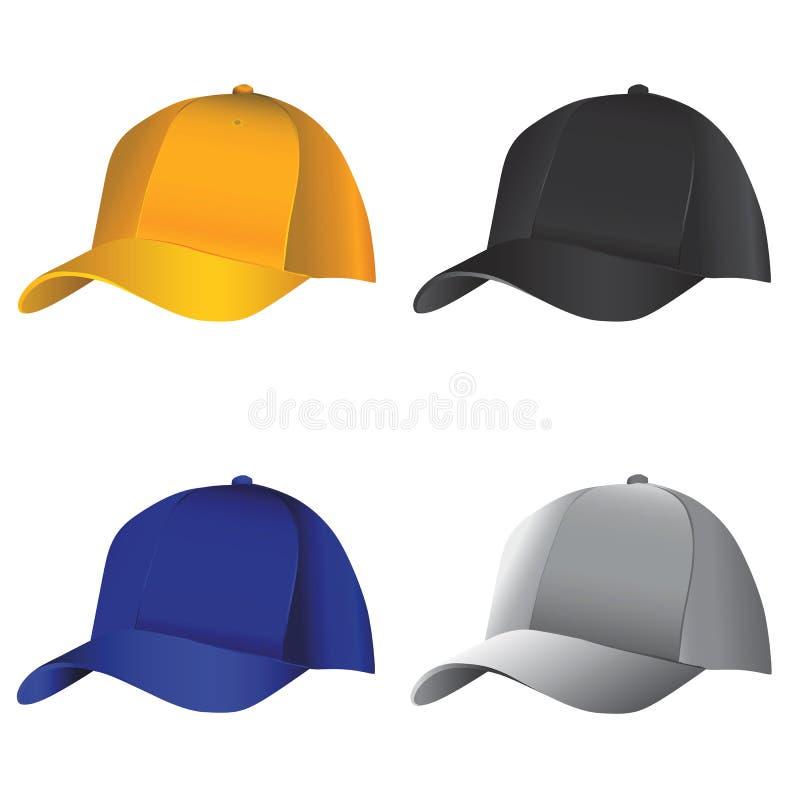 hattvektor vektor illustrationer