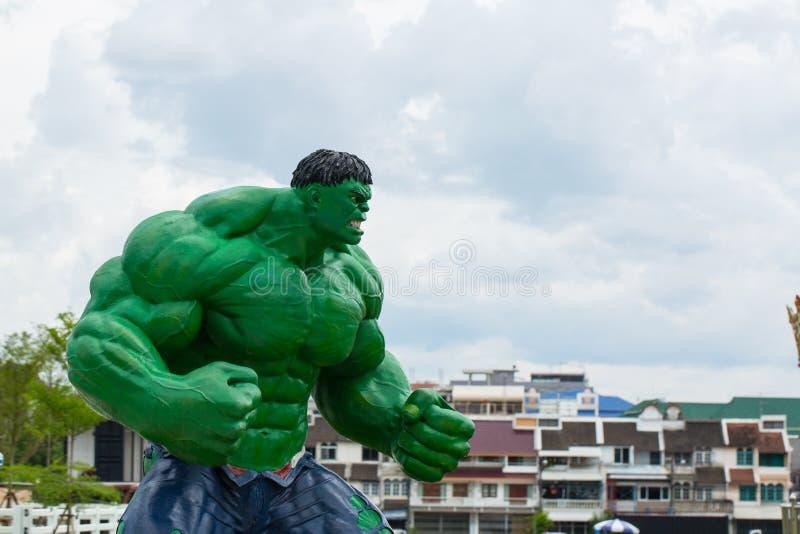 HATYAI, TAILANDIA 18 GIUGNO 2015: MOD gigante di Hulk dell'eroe eccellente di meraviglia fotografie stock libere da diritti