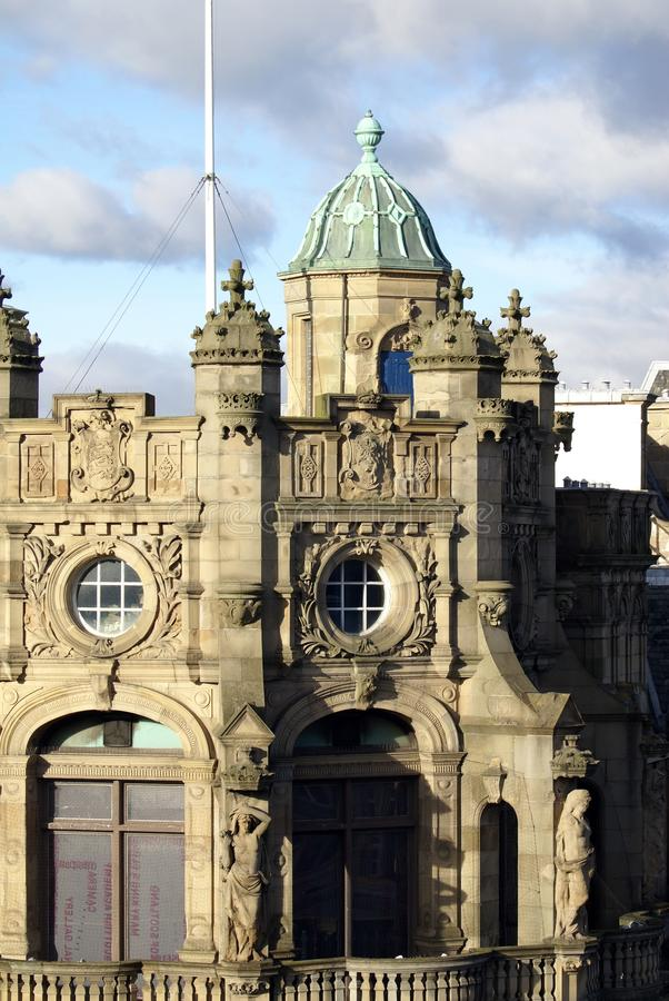 Haube auf der Bank von Schottland in Edinburgh stockbilder
