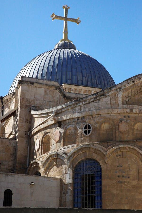 Haube auf der Kirche des heiligen Sepulchre lizenzfreies stockbild