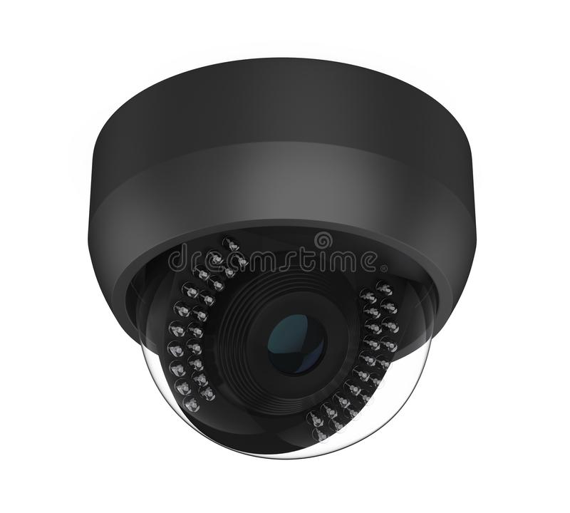 Haube CCTV-Überwachungskamera lokalisiert vektor abbildung