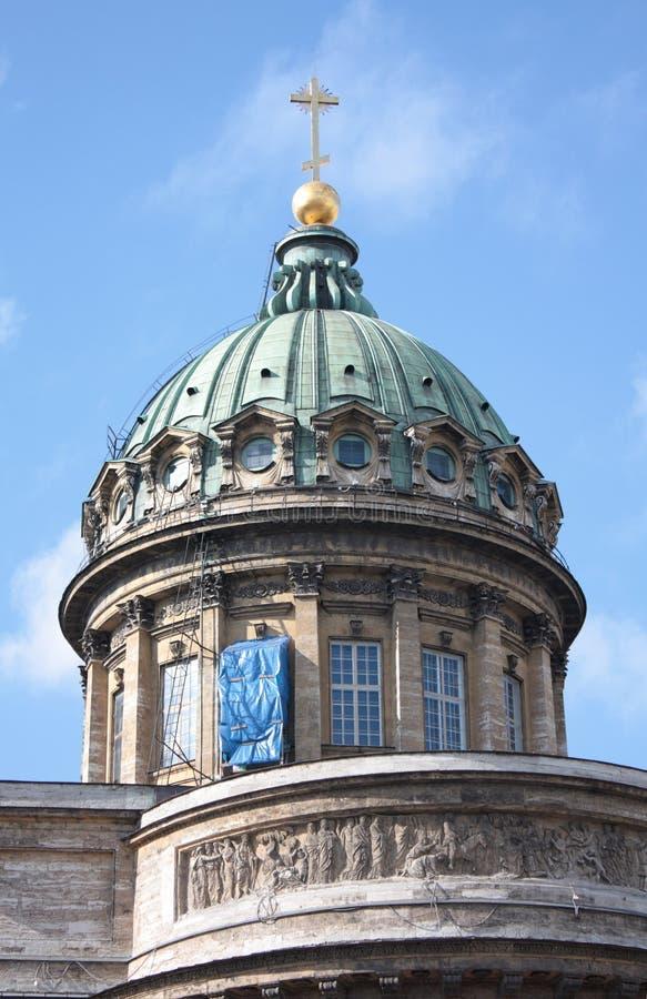 Haube der Kazan-Kathedrale lizenzfreies stockfoto