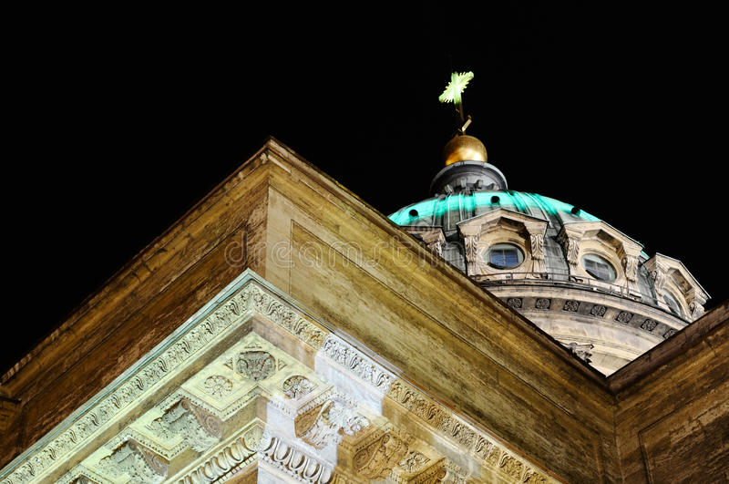 Haube der Kazan-Kathedrale. lizenzfreies stockfoto