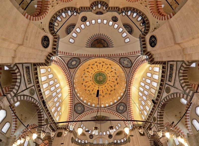 Haube der Suleymaniye Moschee in Istanbul lizenzfreies stockfoto