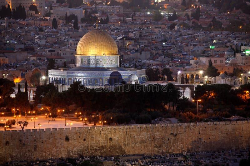 Haube des Felsens, Jerusalem lizenzfreies stockbild