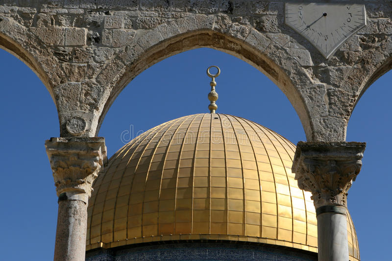 Haube des Felsens, Jerusalem, Israel lizenzfreies stockbild