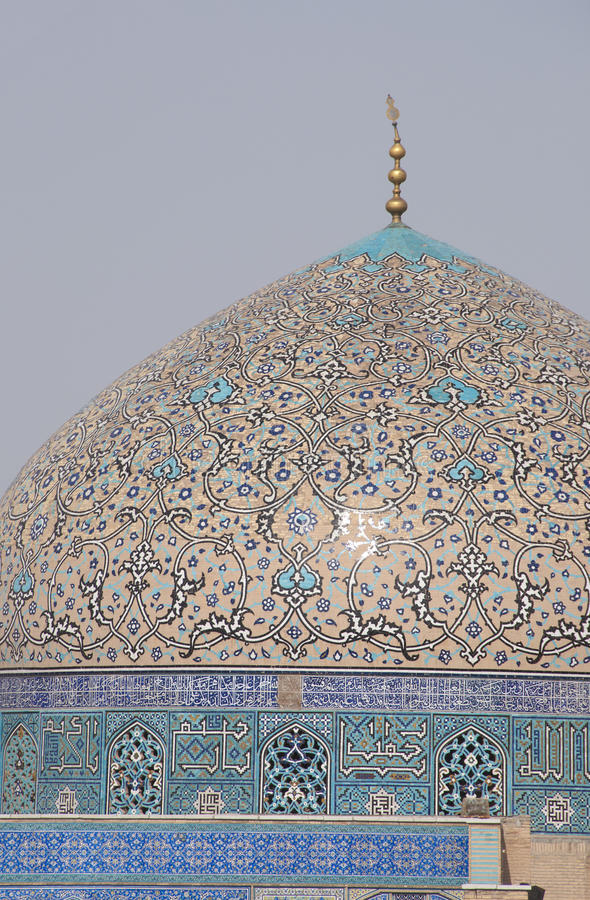 Haube des Scheichs Lotf Allah Mosque stockfotografie