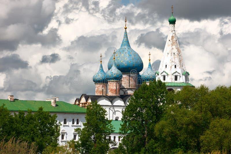 Hauben Der Geburt Christi-Kathedrale. Suzdal, Russland. Lizenzfreie Stockbilder
