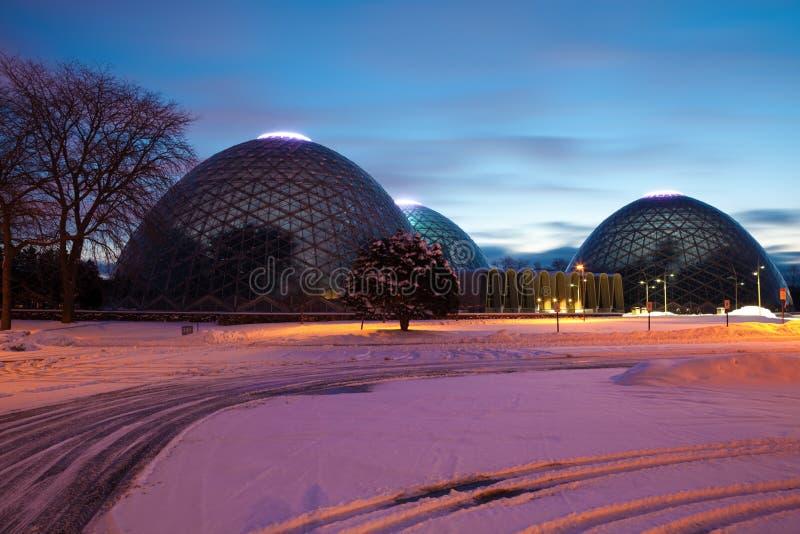 Hauben eines botanischen Gartens in Milwaukee stockfoto