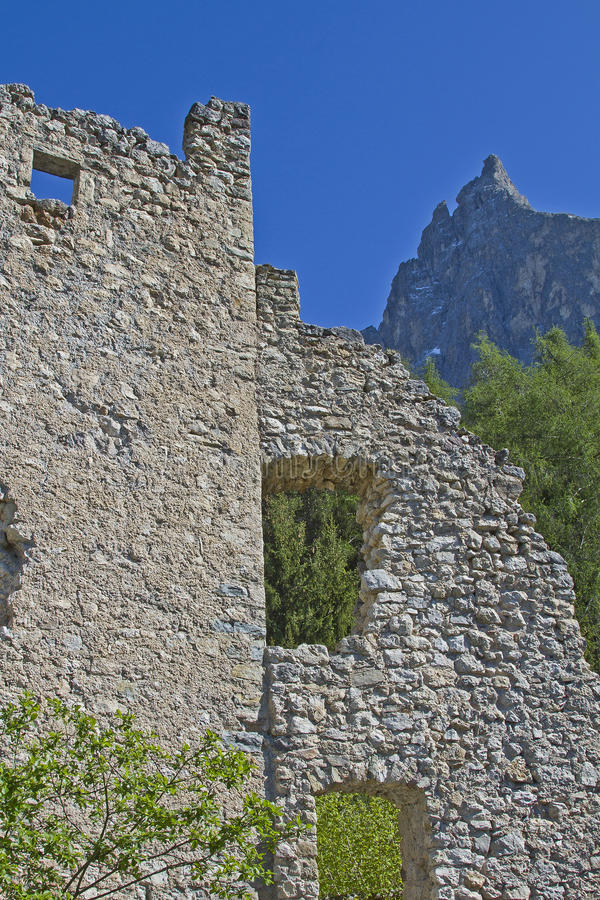 Hauenstein Ruins In South Tyrol Stock Photos