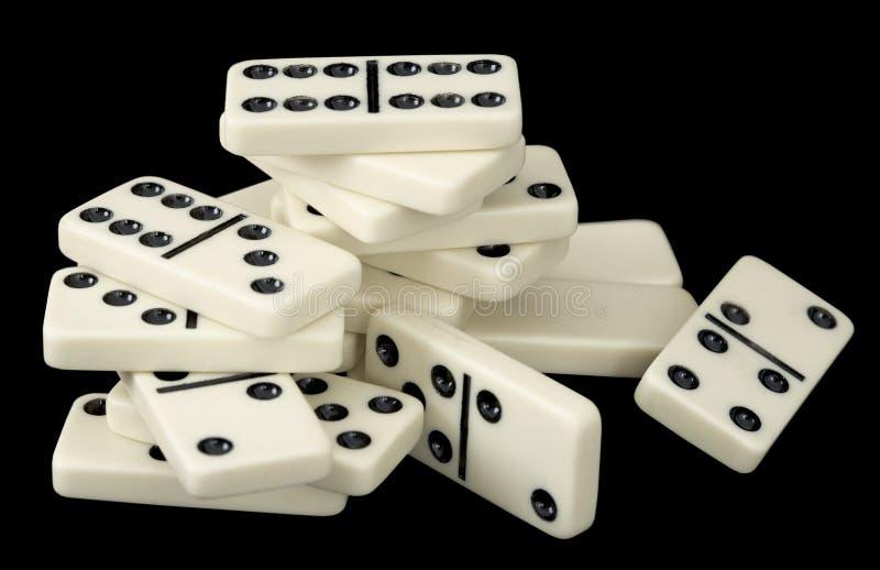 Haufen der Dominoknochen lizenzfreies stockfoto