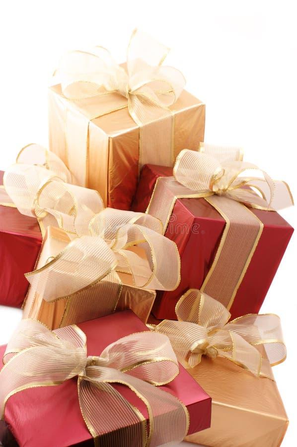 Haufen der Geschenke lizenzfreie stockfotografie