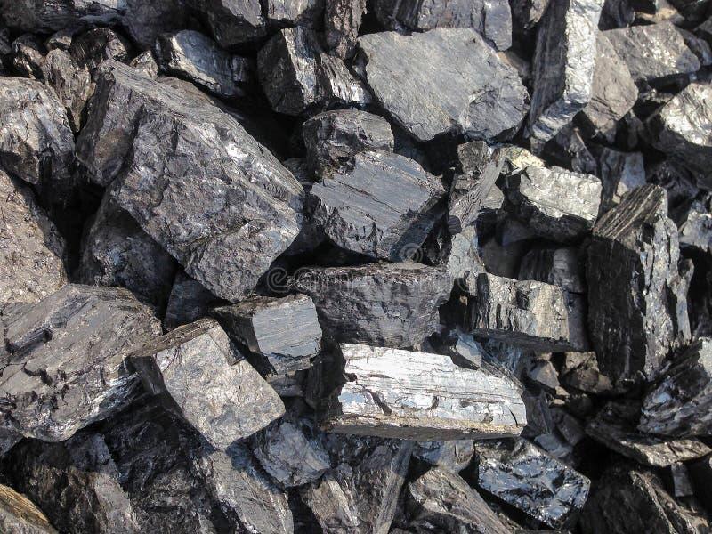 Haufen der Kohle stockbild