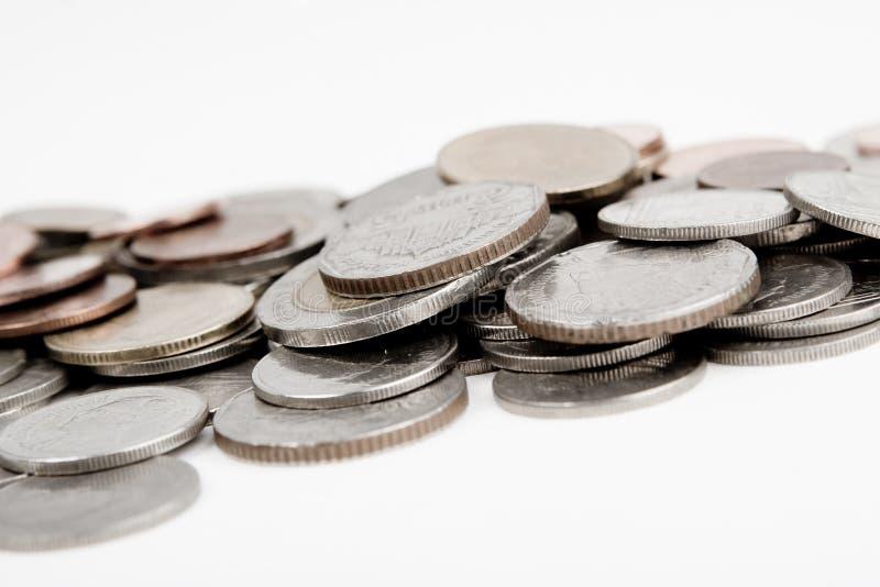 Haufen der Münzen lizenzfreies stockbild