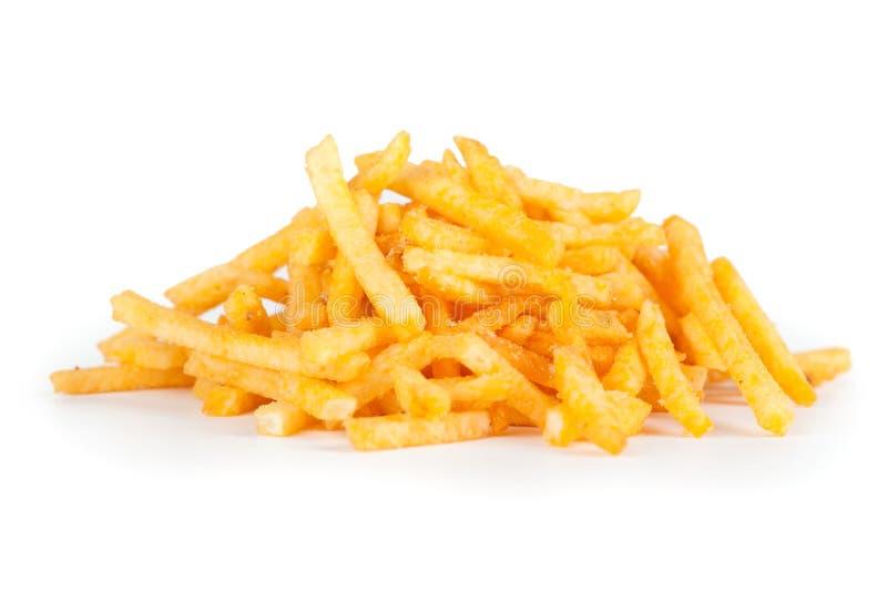 Haufen von Kartoffel-Stöcken stockbild