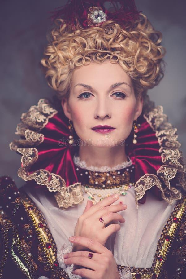 Haughty queen royalty free stock image