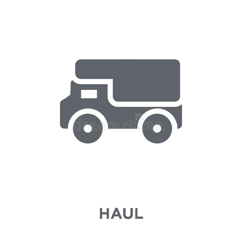 Haul icon from Transportation collection. Haul icon. haul design concept from Transportation collection. Simple element vector illustration on white background stock illustration