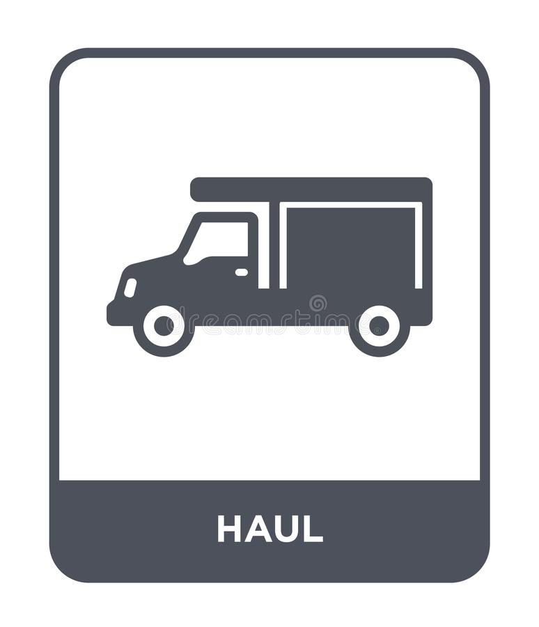 Haul icon in trendy design style. haul icon isolated on white background. haul vector icon simple and modern flat symbol for web. Site, mobile, logo, app, UI royalty free illustration