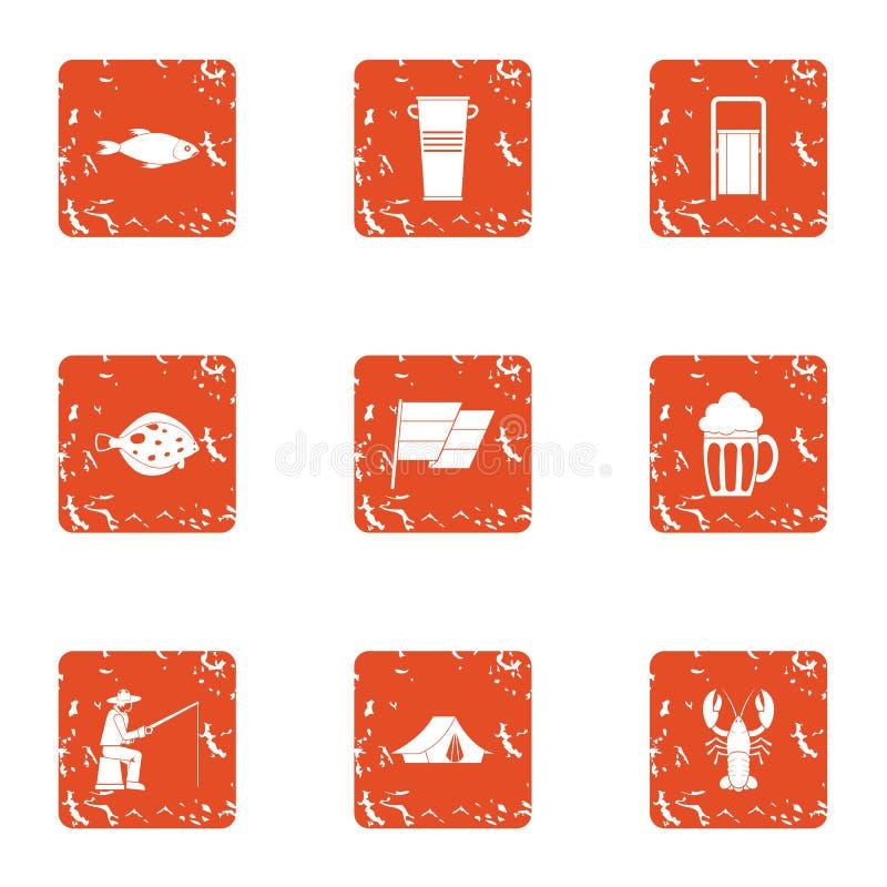 Haul icons set, grunge style. Haul icons set. Grunge set of 9 haul vector icons for web isolated on white background vector illustration