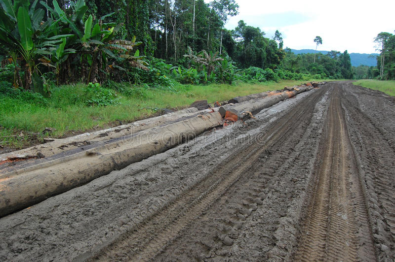 Haulage Road In Outback Of Papua New Guinea Stock Photos