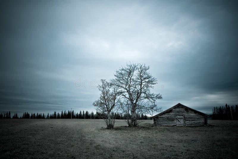 Haunted barn royalty free stock image