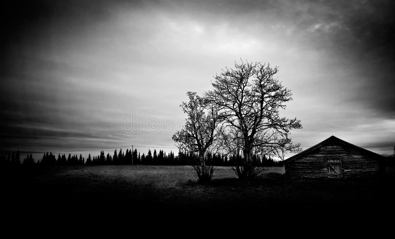 Haunted barn royalty free stock images