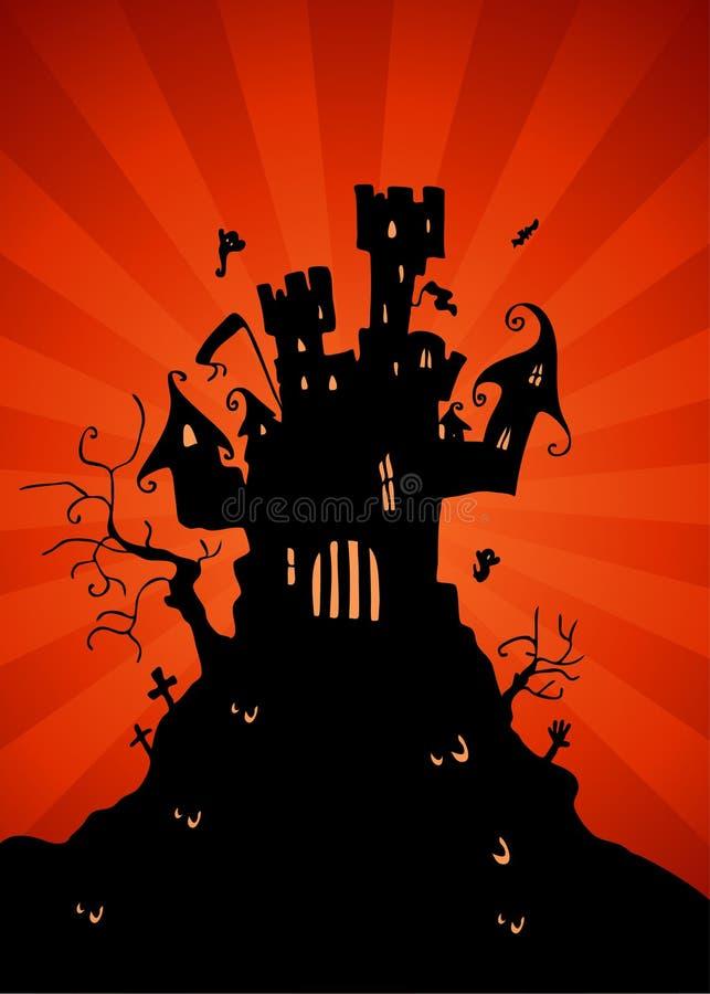 Download Haunted Castle stock vector. Image of castle, orange - 16411434